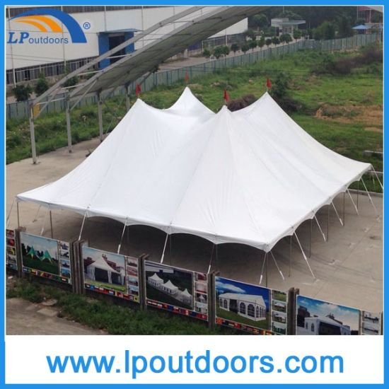 China Lp Outdoors Steel Frame High Peak Wedding Marquee Pole Tent ...