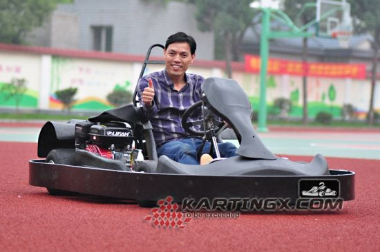 Hot 200cc/270cc 4 Wheels Racing Indoor Go Kart with Plastic Safety Bumper Gc2008 Pass Ce Certificate pictures & photos
