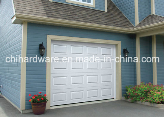 Raised and Fielded Panels Meranti Wooden Garage Doors pictures & photos