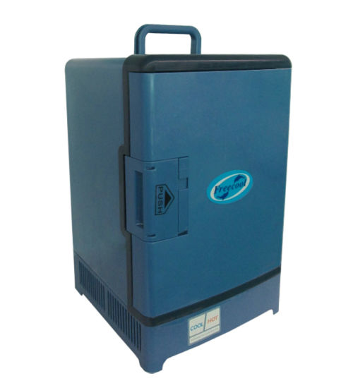 Electronic Mini Fridge 15liter DC12V, AC100-240V in Both Cooling and Warming Function pictures & photos