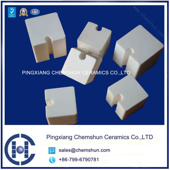 Wear Ceramic Cube Lining/Alumina Block with Groove pictures & photos