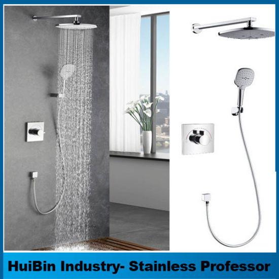 China Us Quality High Pressure 3-Way Twin Handheld Shower Combo ...