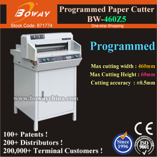 Boway Ce 460mm A3 A4 Size Book Edge Cutting Machine Electric Digital Program Control Paper Cutter pictures & photos