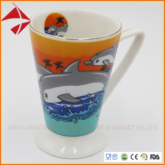 14oz Sublimation V Shape Ceramic Mug Ceramic Coffee Mug pictures & photos