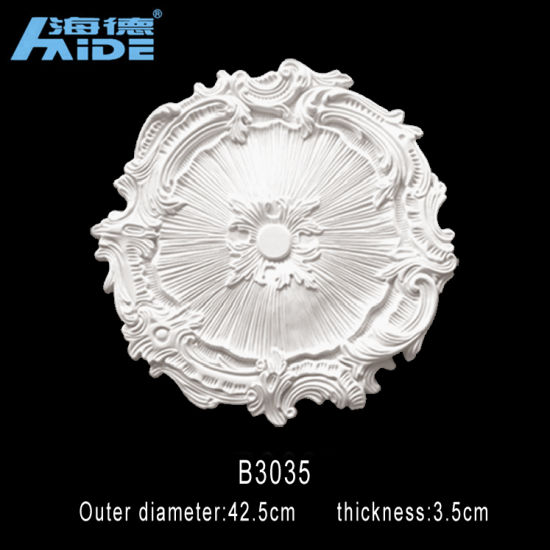 Round Fireproof Polyurethane Carving Ceilings Pu Mouldings Ceiling Medallions Pictures Photos