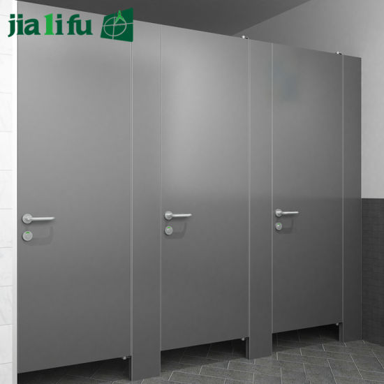 China Jialifu Zink Alloy Hardware HPL Individual Restroom Partitions Extraordinary Bathroom Partitions Hardware