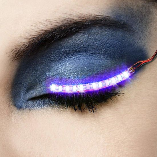 New Style Music Sound Activated Control LED Eye Lashes Flashing Light Eyelashes for Party pictures & photos