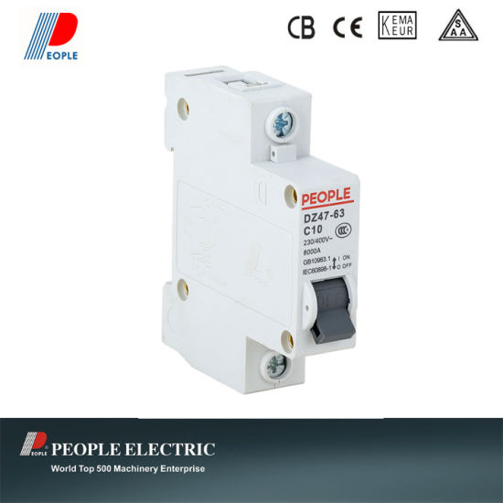 Dz47-63 Type 4.5ka Mini Circuit Breaker