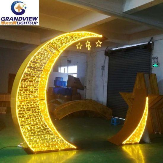 Decoration Led Ramadan Crescent Moon