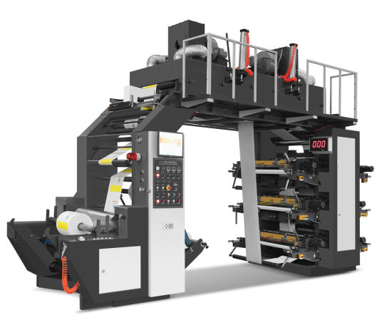 Six Color Flexo Printing Machine Paper and Film Speed 120m/Min