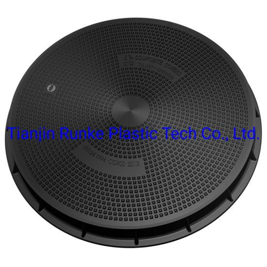 High Quality FRP Round Manhole Cover SMC Telecom Manhole Cover and Frame Composite Communication Manhole Cover BS En124