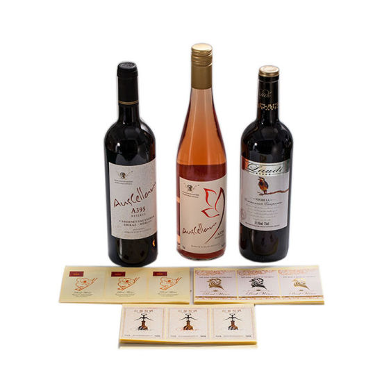 Custom Glass Bottle Beer Label, Self Adhesive Wine Hot Stamping Label Stickers pictures & photos