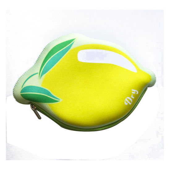 Fashion Lovely Lemon Neoprene Ladies Wallets Coin Purse pictures & photos