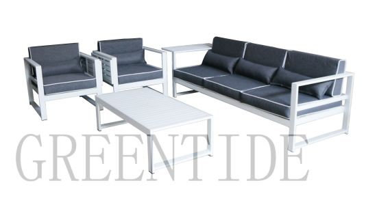 Outdoor Garden Patio Furniture Aluminum Sofa Set with Side Table Factory Price pictures & photos