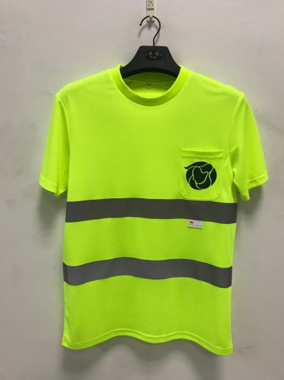 High Visibility Uniform Workwear T Shirt with Reflective Strips