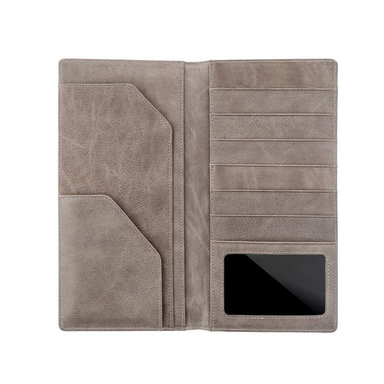 83711670ce32 RFID Leather Bifold Travel Wallet Passport Holder