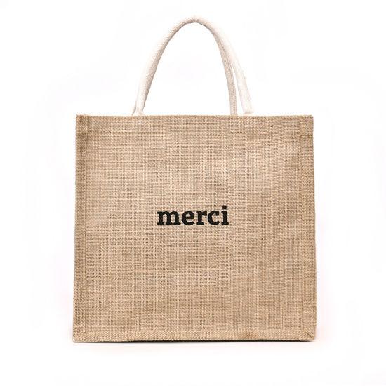 Tesco Ladybird Murval Tote Custom Printed Hessian Jute Shopping Bag Extra Large