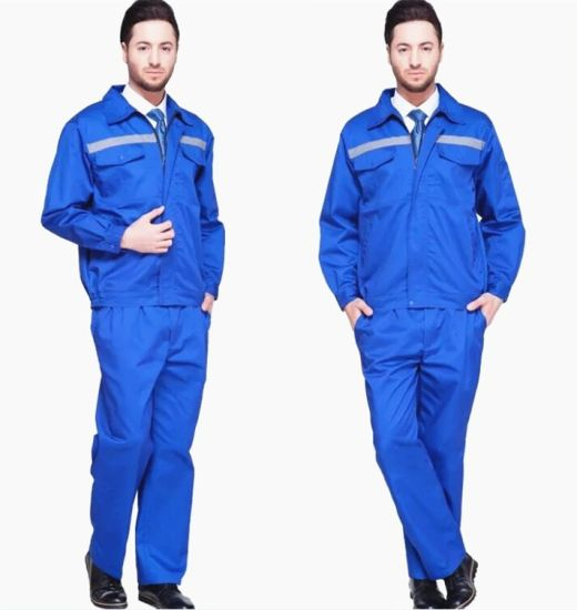 buy real quality products custom Blue Cheap Safety Clothes Work Uniform Construction Workwear