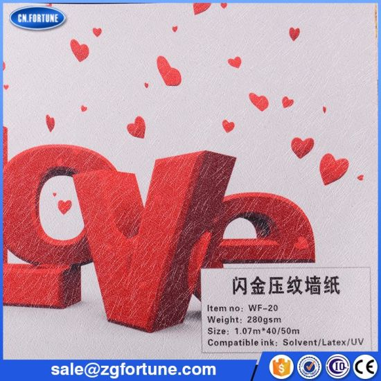 photo about Printable Wallpapers identify China Sizzling Sale Embossing Practice with Golden Glitters Extravagant