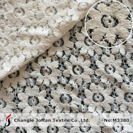 Textile Cotton Guipure Lace Fabric for Garment (M3380)