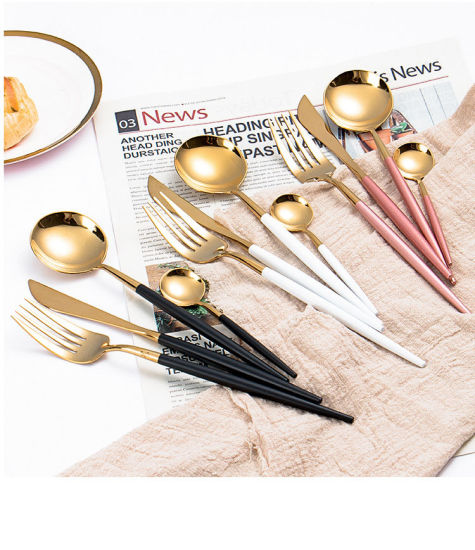 Wholesale Spoon and Fork Set 304 Stainless Steel Cutlery Set