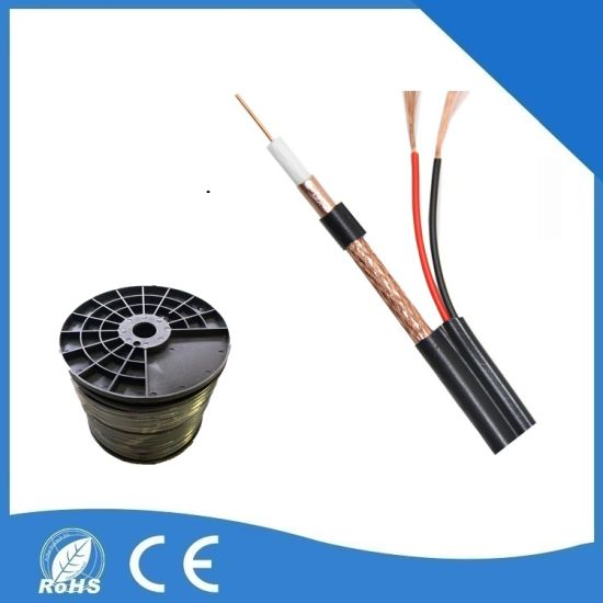 Coaxial Rg59+2c Cable RG6 with Power Siamese or Combo Wire for CCTV Camera