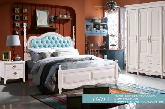 America Style Wooden Bedroom Sets for Bedroom Furniture (1601) pictures & photos