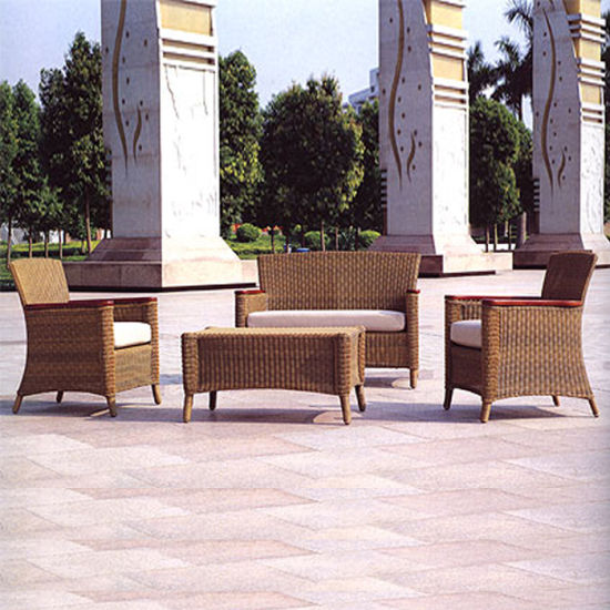 Outdoor Garden Hotel Furniture Leisure Rattan Weave Patio Chair Sofa Set pictures & photos