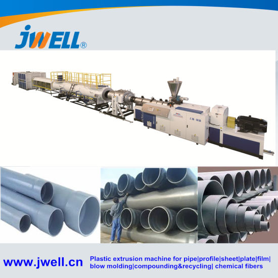 Jwell UPVC PVC PE HDPE PP PPR Pipe Extruder Machine Line for Drinking Water, Drainage, Sewage