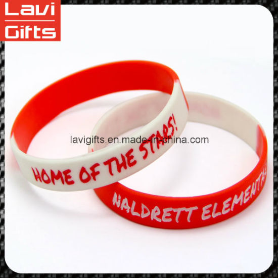 Colourful Custom Silicone Bracelet Wristband with Promotion pictures & photos