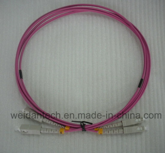 Sc-Sc Multimode Duplex 50/125u Om2 Fiber Optic Patch Cord, 2meter pictures & photos