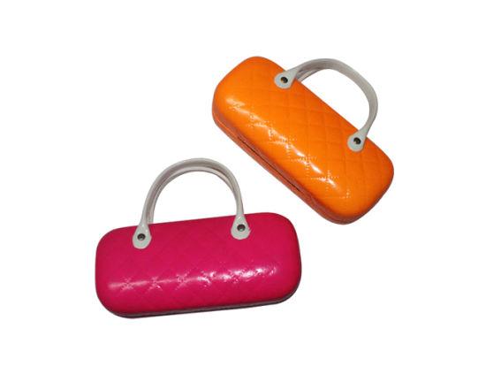 Wholesale Portable Hard Leather Clamshell Eyeglasses Case Sunglasses Case