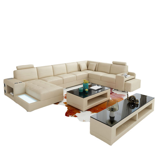 Wholesale Foshan Furniture Living Room Leather Sofa Set