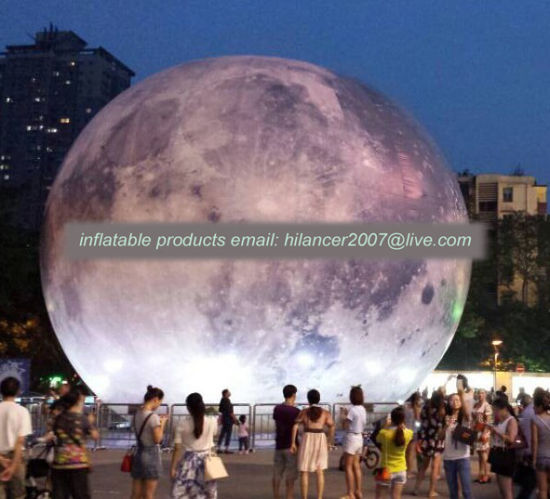 2019 New Giant Advertising Moon Balloon with Light System for Show