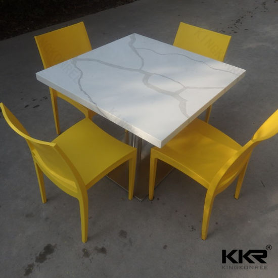 China Seaters Square Solid Surface Dining Table For Chain - 4 top restaurant table