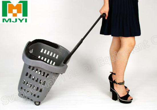 Supermarket Retail Convenient Plastic Shopping Basket pictures & photos