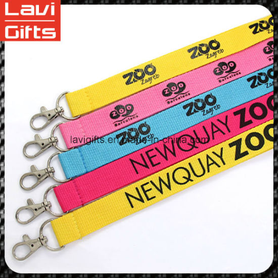 Unique Logo Custom Woven Lanyard with Metal Hook pictures & photos