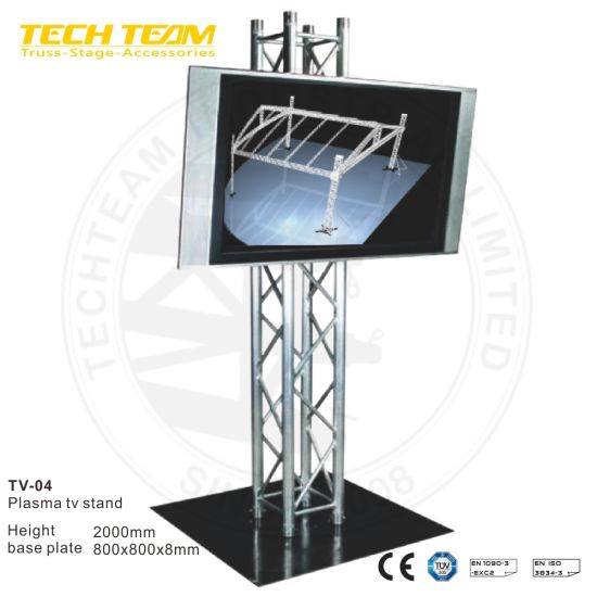 China Aluminium Straight Lcd Tv Plasma Tv Stand China Movable Mount Tv Stand And Aluminum Truss Price Price