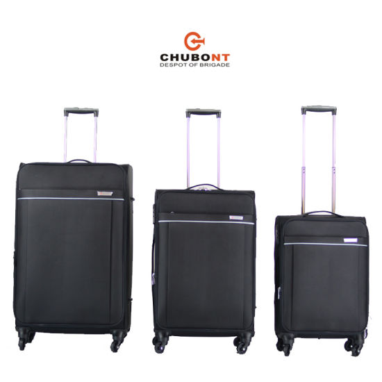 Chubont New 4 Wheels Double Zipper 3PCS Leisure Luggage pictures & photos