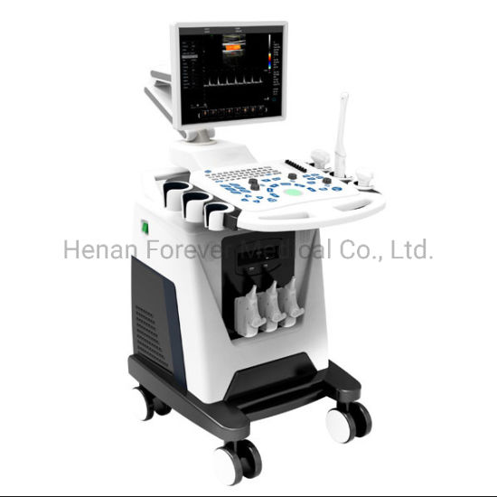 Medical Device Trolley Color Doppler Cardiac Ultrasound Scanner with Pw