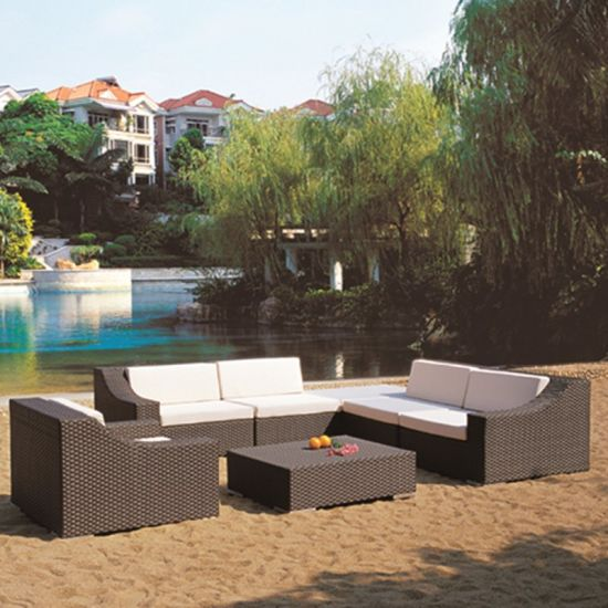 Hotel Aluminum Sofa Rattan Wicker Outdoor Furniture (TG-JW01)
