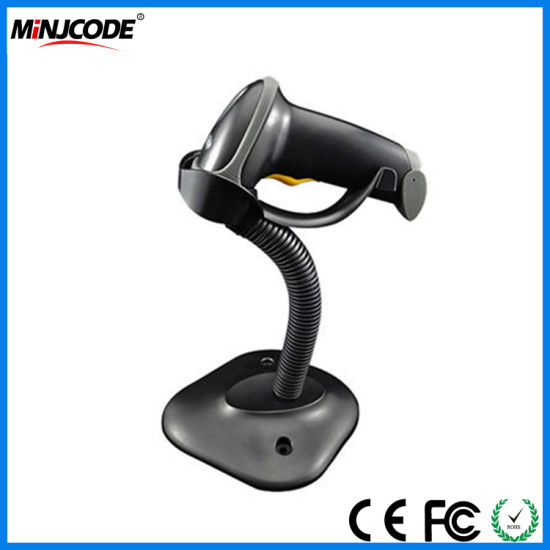 Laser Handfree Barcode Scanner with Bracket Holder, Autosense 1d Barcode Reader, Supermarket Retail Barcode Reader, Mj2808at pictures & photos