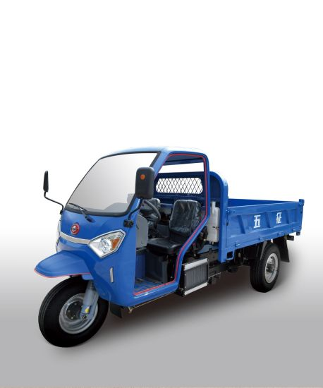 Waw Open Waw Diesel Motorized Cargo Three Wheel Truck for Sale From China