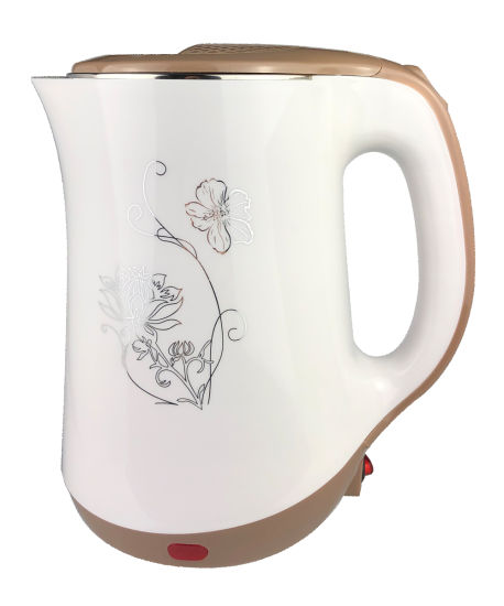 Good Quality Plastic Electronic Kettle with Flower Pattern