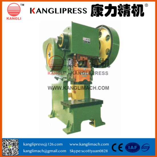 China J23-100t Steel Plate Vertical Type Power Press Hydraulic Hole