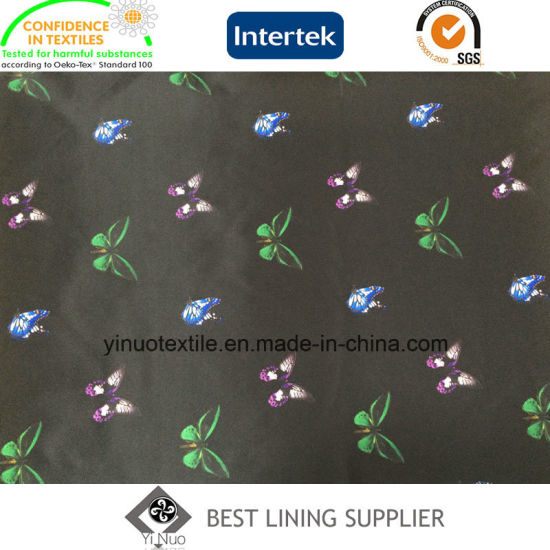 Mini Butterfly Pattern 100% Polyester Print Lining for Women′s Garment  pictures   photos 17988f764