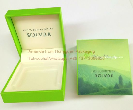 Plastic Gift Box Wrapped by Artpaper for Jewelry Packaging