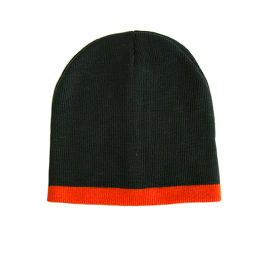 d44e8b55f8d11 China Black Knitted Hat with Red Stripe (JRK004) - China Beanie, Knitted Hat