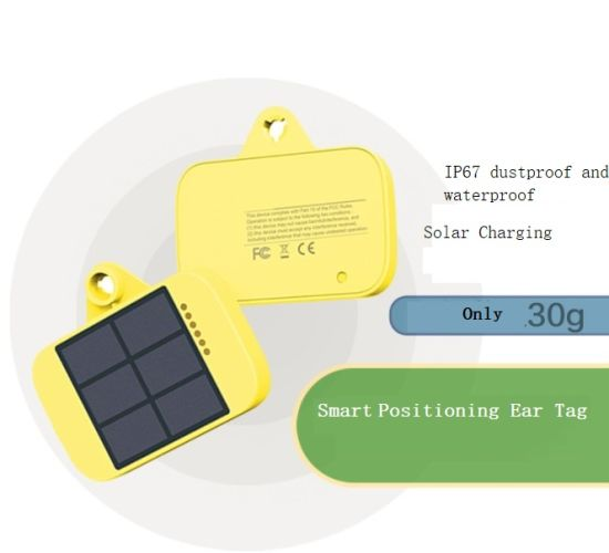 Solar GPS Cow/Animal/Sheep/Horse Tracker Ear Tag