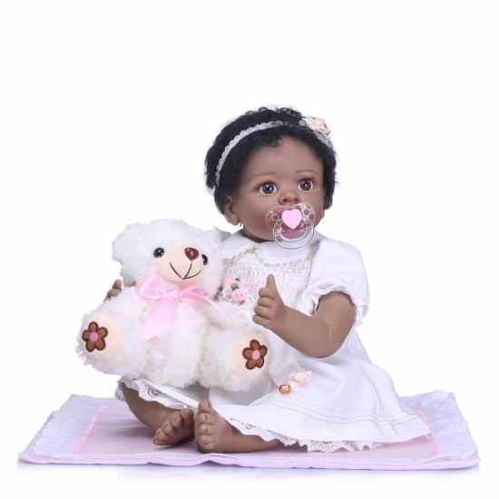 Black Reborn Baby Doll 40cm Wholesale Vinyl Black Dolls pictures & photos